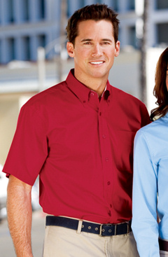 Port Authority Short Sleeve Easy Care Shirt, S508. Embroidered with your company logo!
