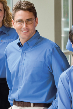 Embroidered Woven, Port Authority Easy Care, Custom Embroidered Corporate Apparel