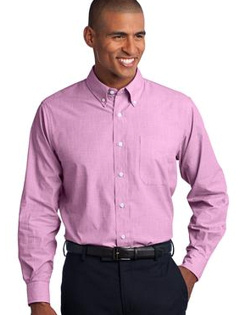Custom embroidered Port Authority ® - Crosshatch Easy Care Shirt. S640