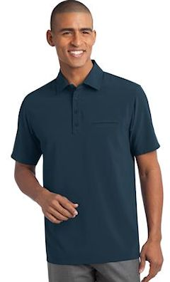 Custom embroidered Port Authority ® Ultra Stretch Pocket Polo. S650