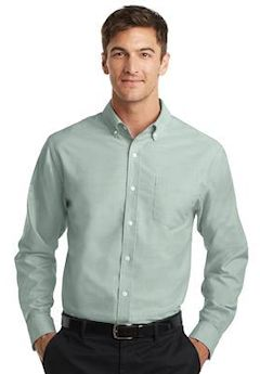 Custom embroidered Port Authority ® SuperPro ™ Oxford Shirt. S658