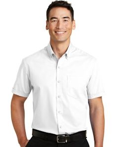 Custom embroidered Port Authority ® Short Sleeve SuperPro T Twill Shirt. S664