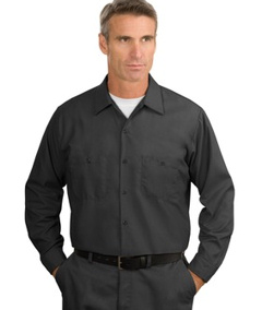 Custom embroidered Red Kap ® - Long Sleeve Industrial Work Shirt. SP14