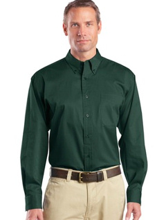Custom embroidered CornerStone ® - Long Sleeve SuperPro Twill Shirt. SP17