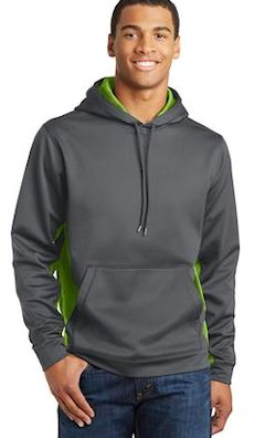 Custom embroidered Sport-Tek ® Sport-Wick ® CamoHex Fleece Colorblock Hooded Pullover. ST239
