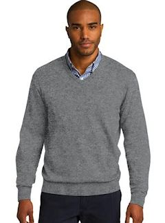Custom embroidered Port Authority ® V-Neck Sweater. SW285