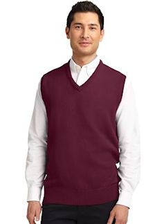 custom embroidered Port Authority ® Value V-Neck Sweater Vest. SW301