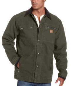 Custom embroidered C26 - Carhartt Sandstone Traditional Coat - Arctic-Quilt Lined