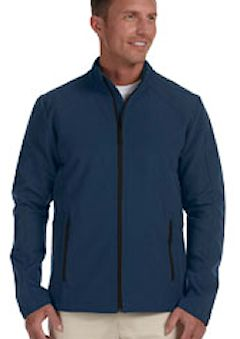 D945 Custom embroidered D945 Devon & Jones Men's Bonded Tech-Shell® Duplex Jacket