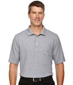 Custom embroidered DG150P Devon & Jones Men's DRYTEC20™ Performance Polo with pocket.