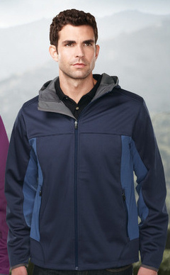Custom embroidered Tri-Mountain J6158 Belford 3 layer bonded Soft Shell Jacket.