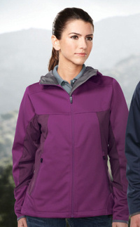 Custom embroidered Tri-Mountain JL6158 ladies  Belford 3 layer bonded Soft Shell Jacket.