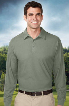 Custom embroidered Tri Mountain K107LS, Endurance UltraCool waffle knit polo golf shirt.