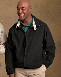 M710 Harriton Microfiber Club Jacket embroidered with your company logo.